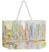 Chicago River Skyline Weekender Tote Bag