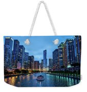 Chicago River Sunset Weekender Tote Bag