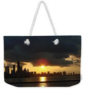 Chicago Silhouette Weekender Tote Bag