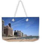 Chicago Skyline And Beach Weekender Tote Bag