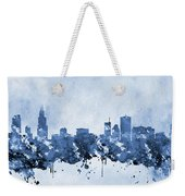 Chicago Skyline-blue 2 Weekender Tote Bag