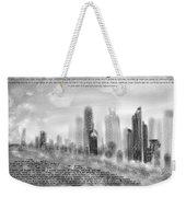 chicago skyline Ketubah Weekender Tote Bag