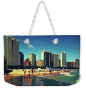 Chicago Summer Skyline At Oak Street Beach Weekender Tote Bag