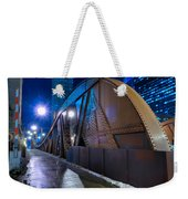Chicago Steel Bridge Weekender Tote Bag