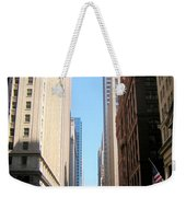 Chicago Street With Flags Weekender Tote Bag