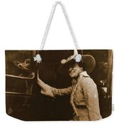 Chicago Suffragette Marching Costume Weekender Tote Bag by Padre Art