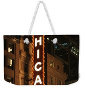 Chicago Theater At Night Weekender Tote Bag