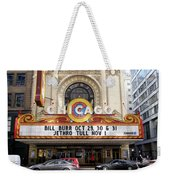 Chicago Theater Marquee Jethro Tull Signage Weekender Tote Bag