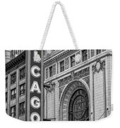 Chicago Theatre Bw Weekender Tote Bag