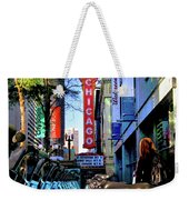 Chicago Theatre City Bikes Weekender Tote Bag
