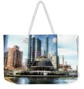 Chicago Under Construction On The River 02 Weekender Tote Bag