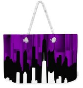 Chicago Violet Vertical  Weekender Tote Bag
