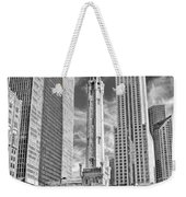 Chicago Water Tower Shopping Black And White Weekender Tote Bag