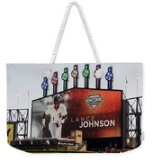 Chicago White Sox Lance Johnson Scoreboard Weekender Tote Bag