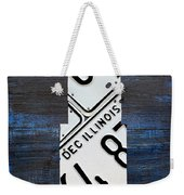 Chicago Windy City Harris Sears Tower License Plate Art Weekender Tote Bag by Design Turnpike