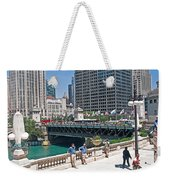 Chicago's Dusable Bridge On N. Michigan Avenue Weekender Tote Bag