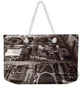 Chicagos Front Yard B W Weekender Tote Bag