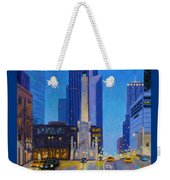 Chicago's Water Tower At Dusk Weekender Tote Bag
