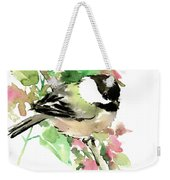 Chickadee And Spring Blossom Weekender Tote Bag