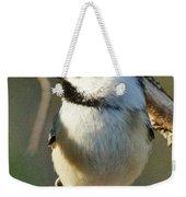 Chickadee Enjoying The Sun Weekender Tote Bag