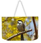 Chickadee In Spring Weekender Tote Bag