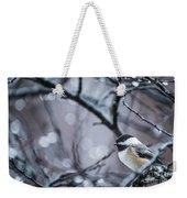 Chickadee Rain Weekender Tote Bag