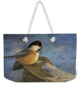 Chickadee Winter Perch Weekender Tote Bag