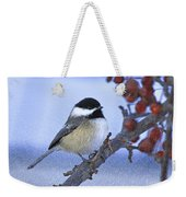 Chickadee With Craquelure Weekender Tote Bag