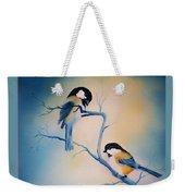 Chickadees Weekender Tote Bag