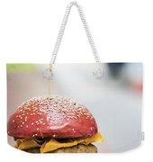 Chicken Burger With Gherkins Beetroot Bread Bun Weekender Tote Bag