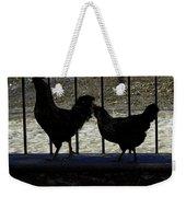 Chicken In Silhousette Weekender Tote Bag