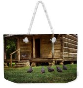 Chickens - Log House - Farm Weekender Tote Bag