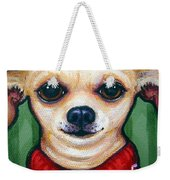 Chihuahua In Red Sweater - Boss Dog Weekender Tote Bag