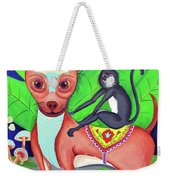 Chihuahuaw/monkie Weekender Tote Bag