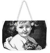 Child & Pet, 19th Century Weekender Tote Bag