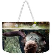 Child And Ray Fish In Paludarium Weekender Tote Bag