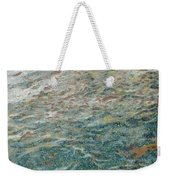 Child Feeding Bread To Fishes Weekender Tote Bag