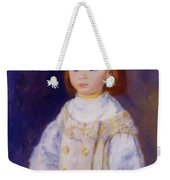 Child In A White Dress Lucie Berard 1883 Weekender Tote Bag