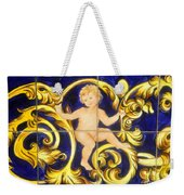 Child In Blue And Gold Weekender Tote Bag