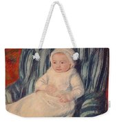 Child On A Sofa Weekender Tote Bag by Mary Cassatt