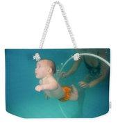 Child Swims Underwater  Weekender Tote Bag