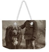 Child With Dog, C1885 Weekender Tote Bag