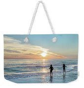 Children At Play On A Florida Beach  Weekender Tote Bag