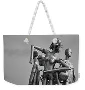 Children At Play Statue B W Weekender Tote Bag