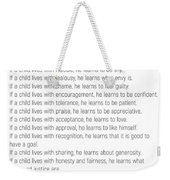 Children Learn What They Live #minimalism 2 Weekender Tote Bag