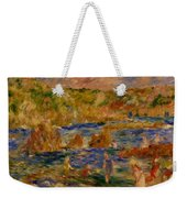 Children On The Beach At Guernsey Weekender Tote Bag