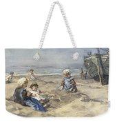Children On The Beach Weekender Tote Bag