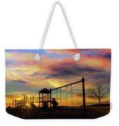 Children Playground At Sunset Weekender Tote Bag