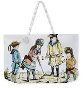 Children Playing Croquet Weekender Tote Bag by Granger