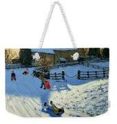 Children Sledging Weekender Tote Bag